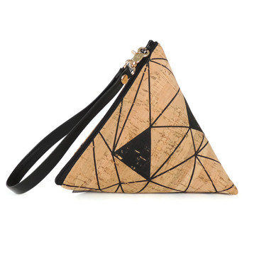 Triangle Pouch in Geo Cork