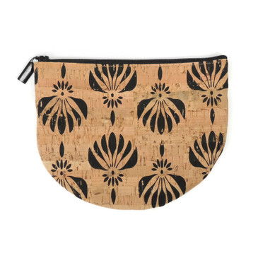 Half Moon Pouch in Black Lotus Cork