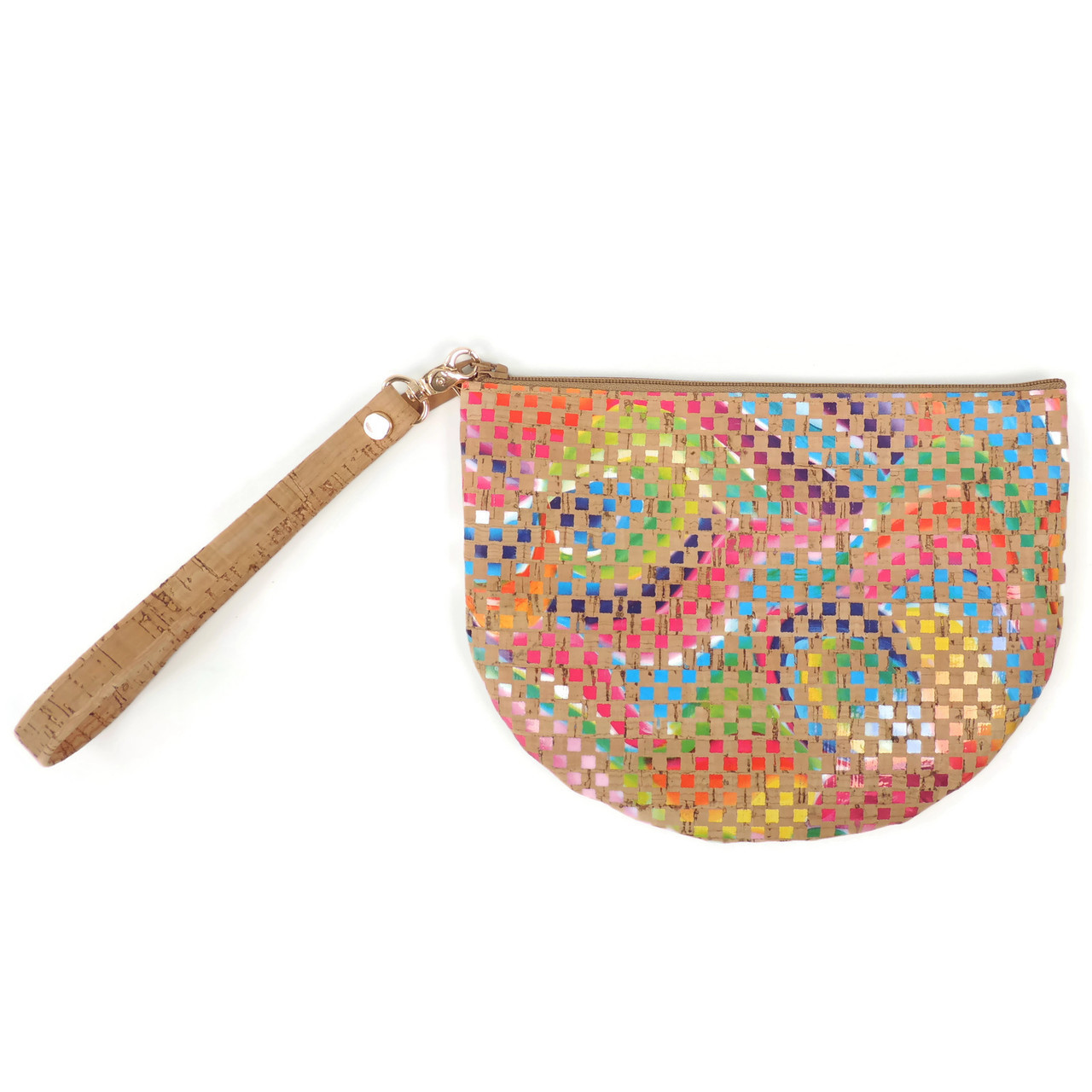 Half Moon Pouch in Mosaic Cork