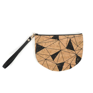 Half Moon Pouch in Geo Cork