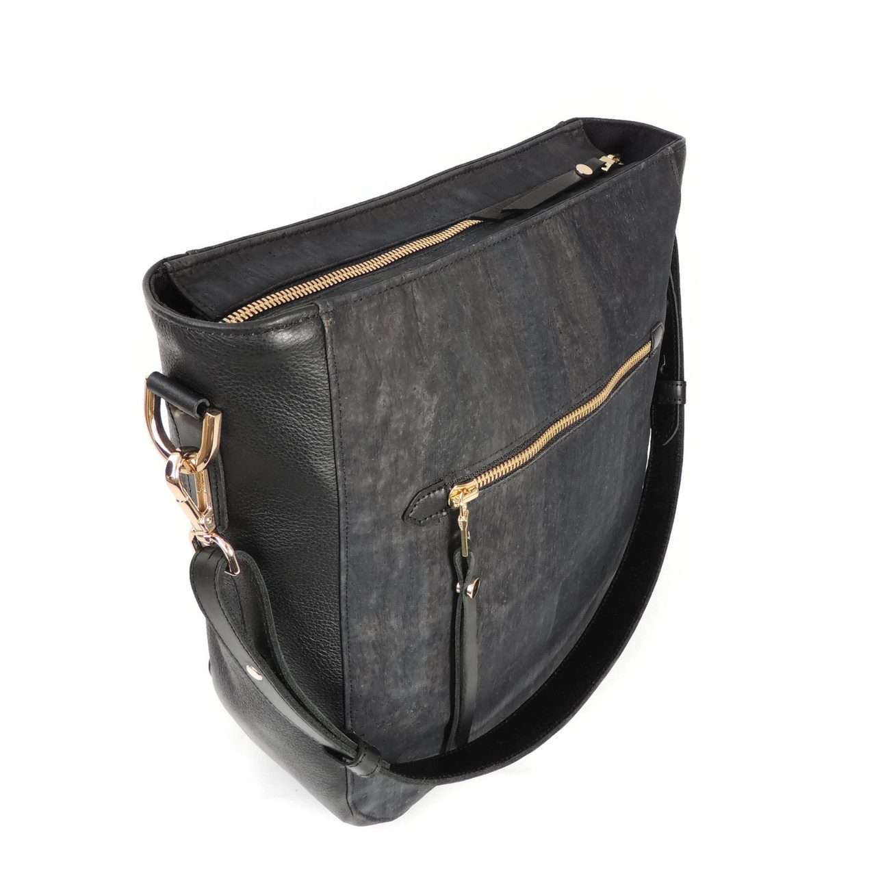 Hobo Purse in Black Cork