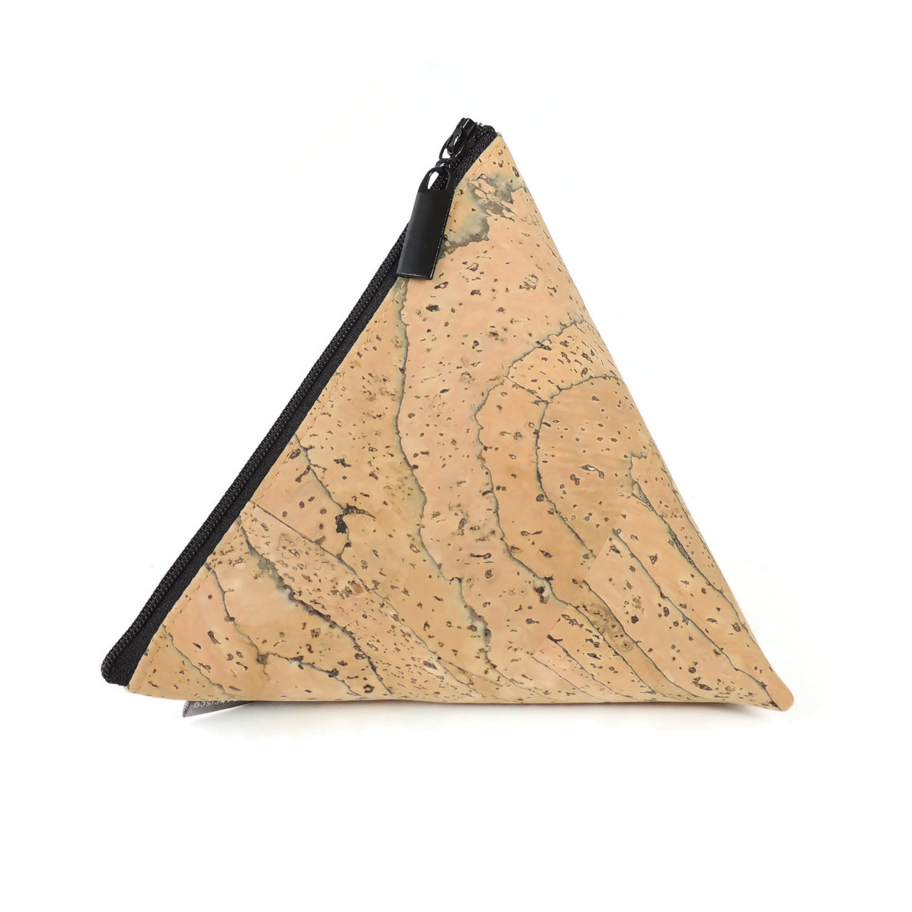 Triangle Pouch in Marble Cork