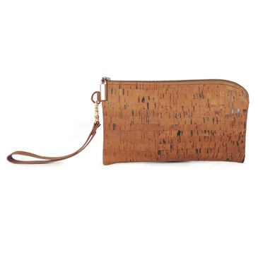 Phone Wristlet in Cork Dash Brown
