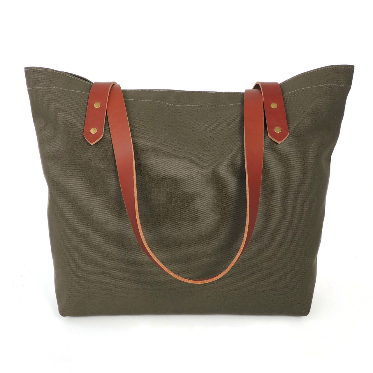 Olive Canvas Market Tote