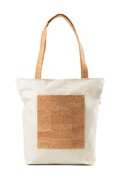 Canvas Tote with Cork in Cork Squares.