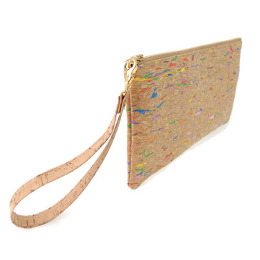 Wristlet in Multicolor Cork