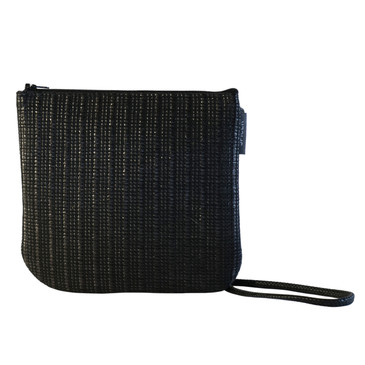 Sidekick in Black Sand Raffia