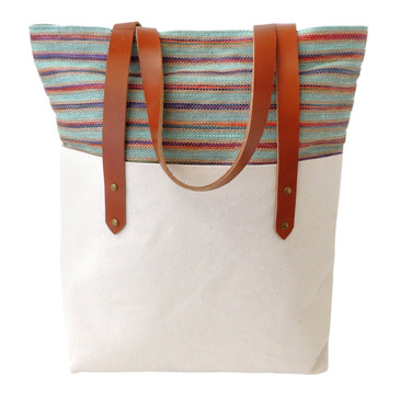 Big Boot Tote in Bodega Jute with Natural Canvas