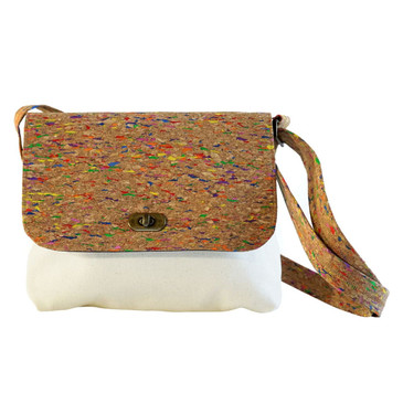 The Cork Crossbody Purse in Multicolored Cork.