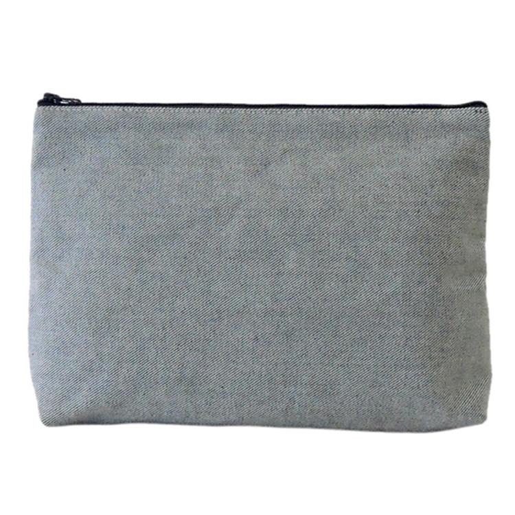 Carryall Clutch in Reverse Denim