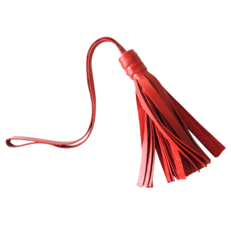 Large Red Leather Tassel with Loop