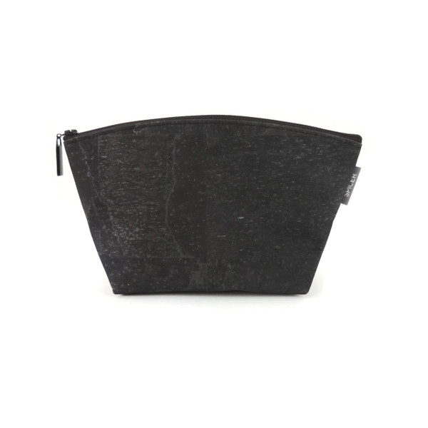 Large Standing Pouch in Black Cork