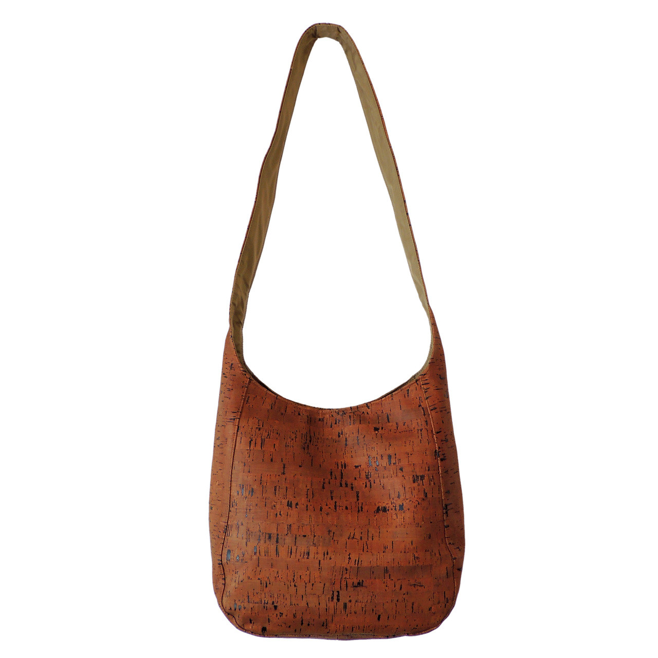 Cork Purse | Cork Dash Brown Crossbody Sling | Spicer Bags
