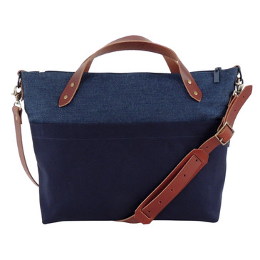 The Satchel in Denim and Navy