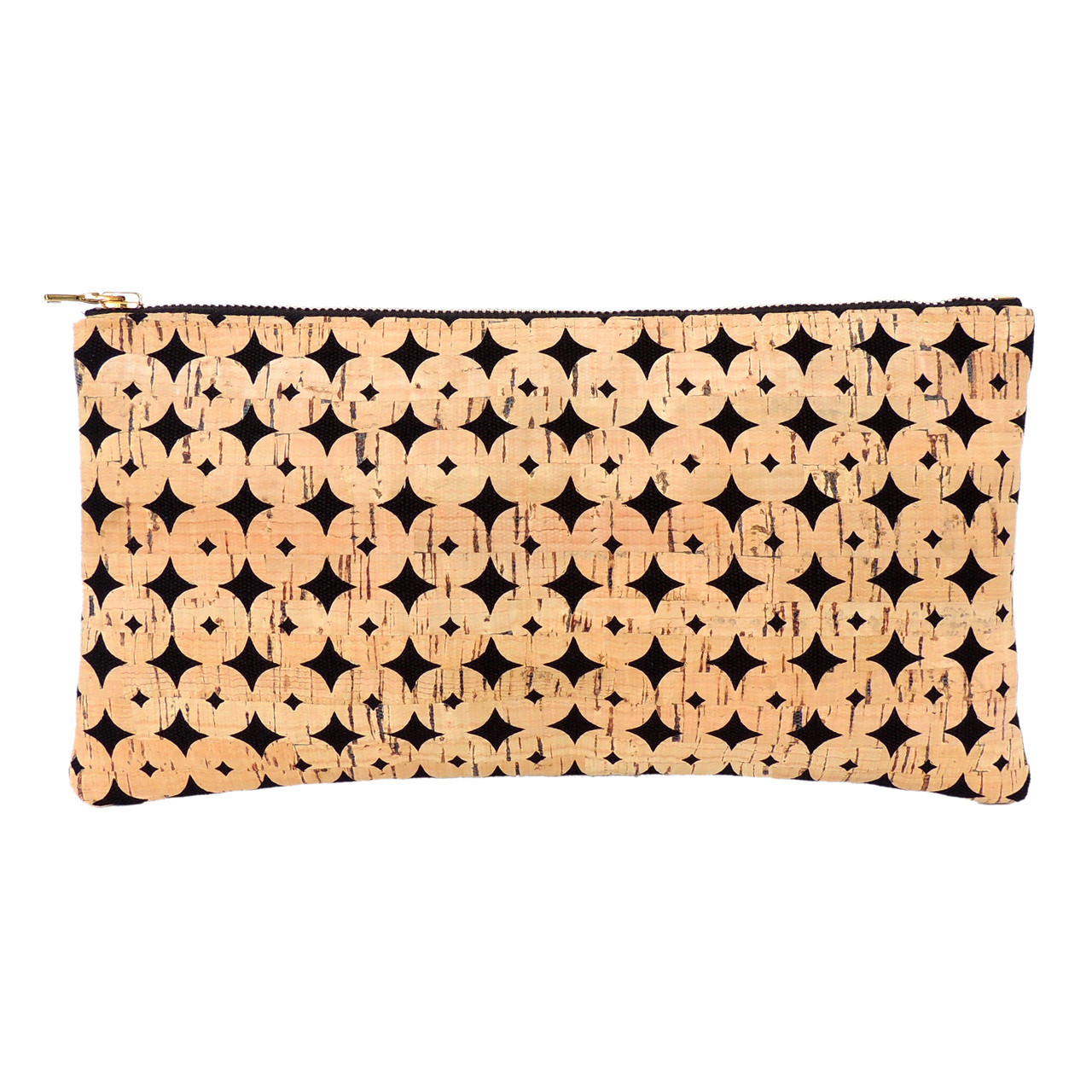 Cork Clutch in Black Cork Dots