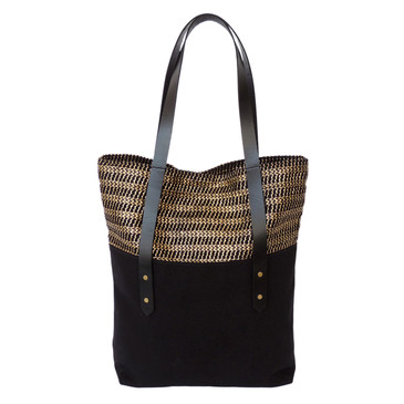 Big Boot Tote in Gold Woven