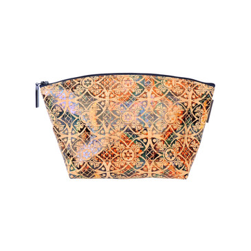 Large Standing Pouch in Fes Tile Cork