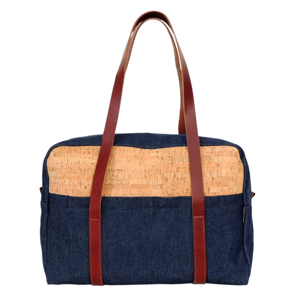 Overnight Bag in Cork Dash and Denim