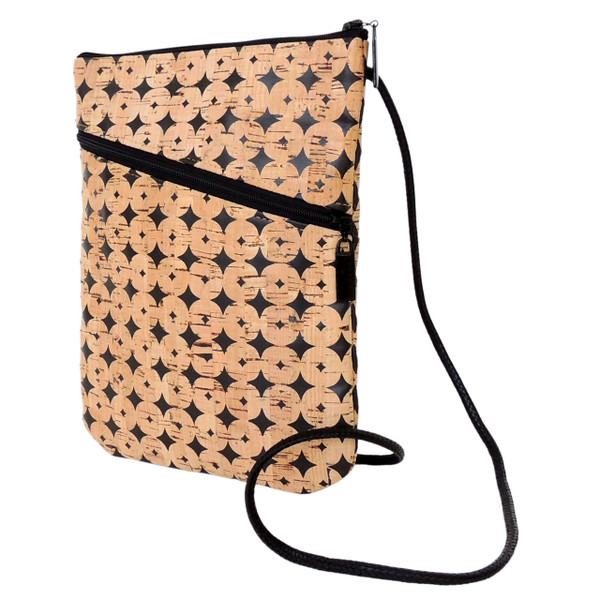 Social Bag in Black Cork Dots