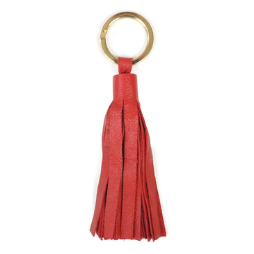 Red Tassel Key Ring