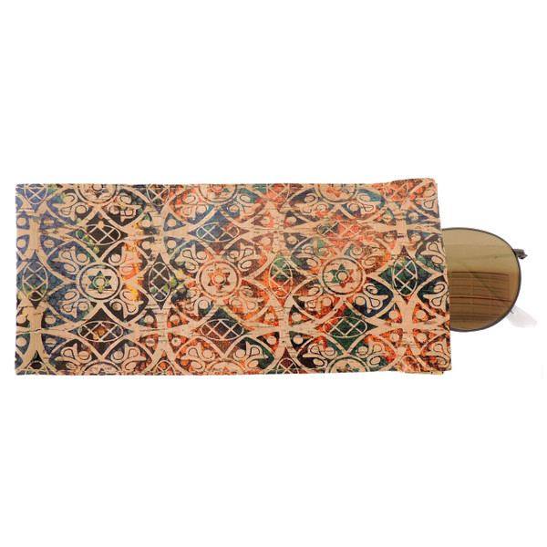 Eyeglass Case in Fes Tile Cork