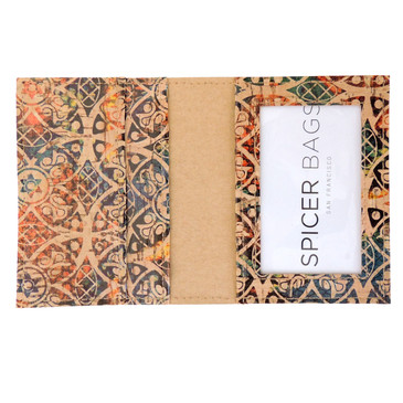 Wallet in Fes Tile Cork