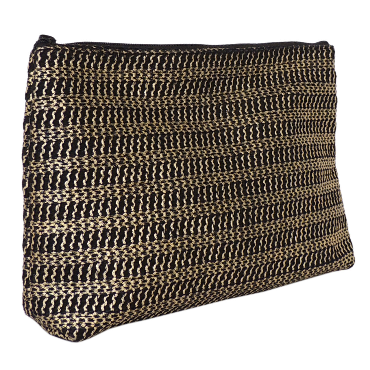 Carryall Clutch in Gold Woven