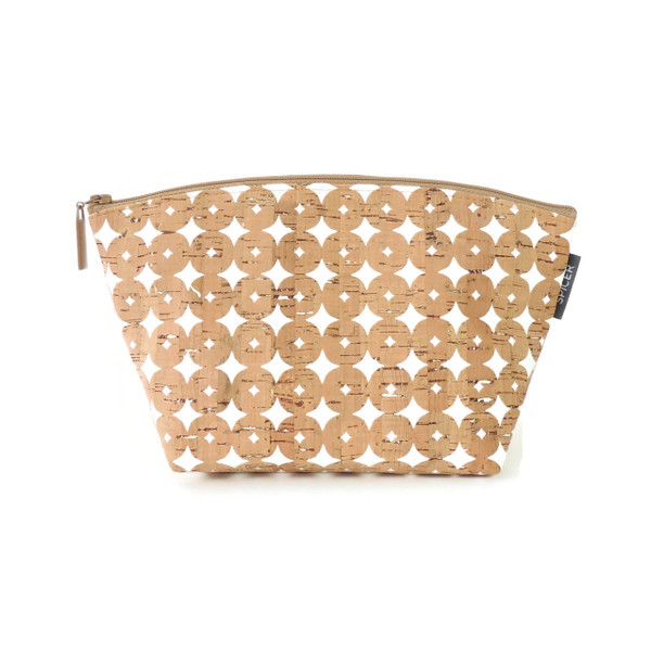 Large Standing Pouch in Cork Dots