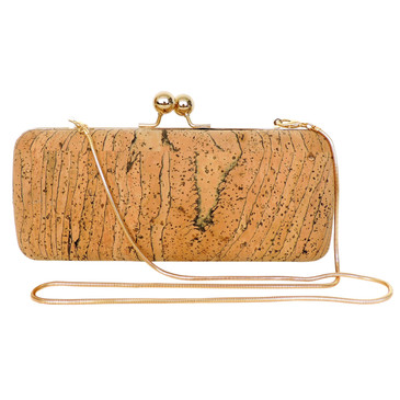 Large Evening Clutch in Marble Cork