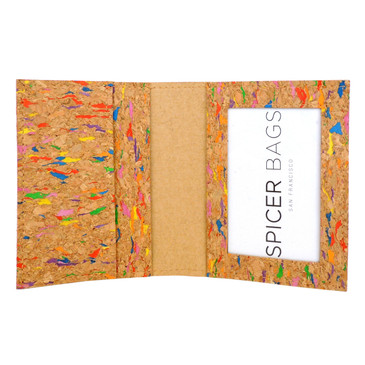 Wallet in Multicolor Cork