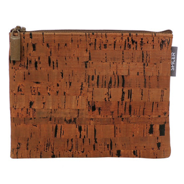 Pouch in Cork Dash Brown