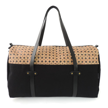 Duffle in Black Cork Dots