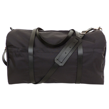Duffle in Black Nylon, with shoulder strap