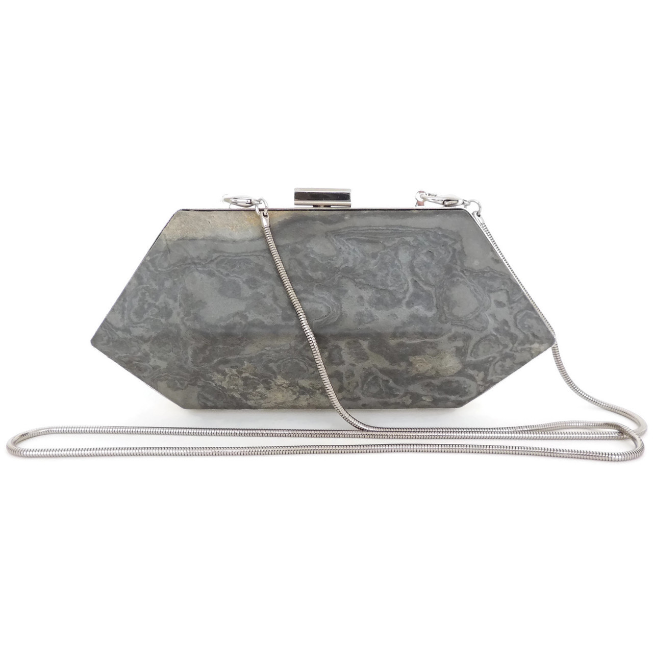 Geometric Stone Evening Clutch