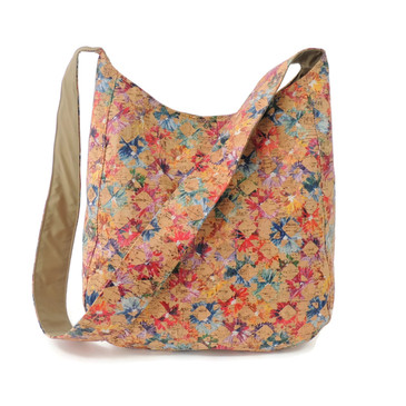 Sling Bag in Floral Cork