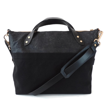 Satchel in Black Cork