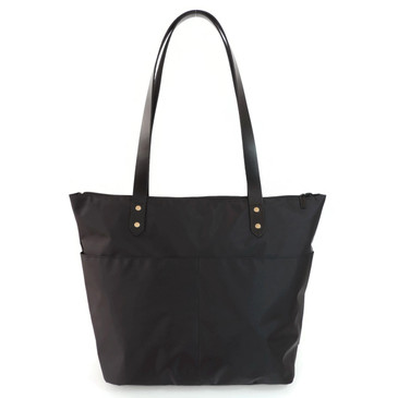 Travel Tote in Black Nylon
