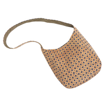 Sling Bag in Denim Cork Dots