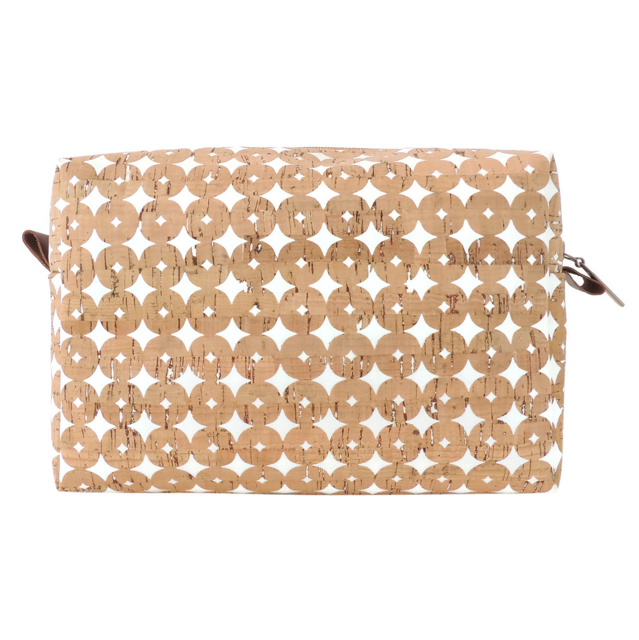 Toiletry Bag in Cork Dots