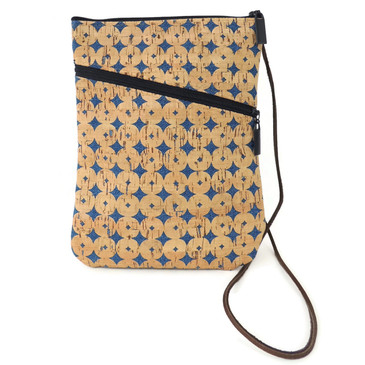 Social Bag in Denim Cork Dots