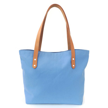 Sky Blue Canvas Market Tote