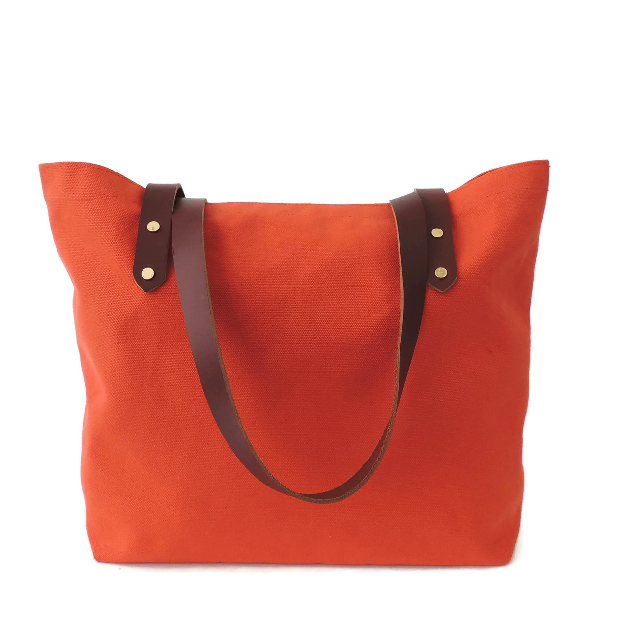 Orange Canvas Market Tote
