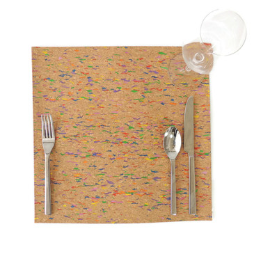 Square Placemat in Multicolor Cork