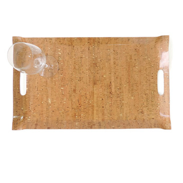 Large Tray in Cork Dash Gold