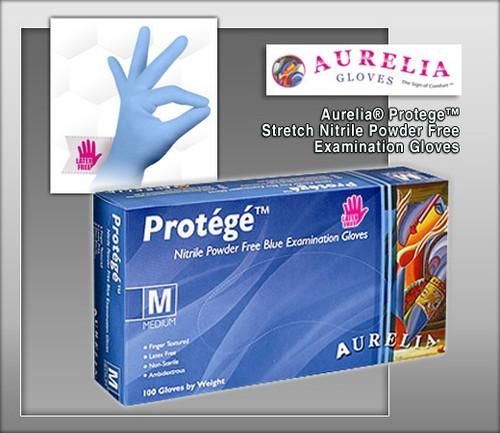 Aurelia® Protege™ Stretch Nitrile Powder Free Examination Gloves - 100 Gloves / Box