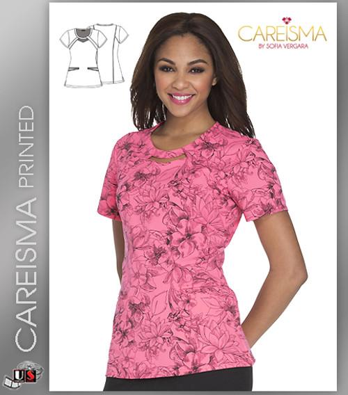 Careisma Printed Flower Fiesta Women's Round Top