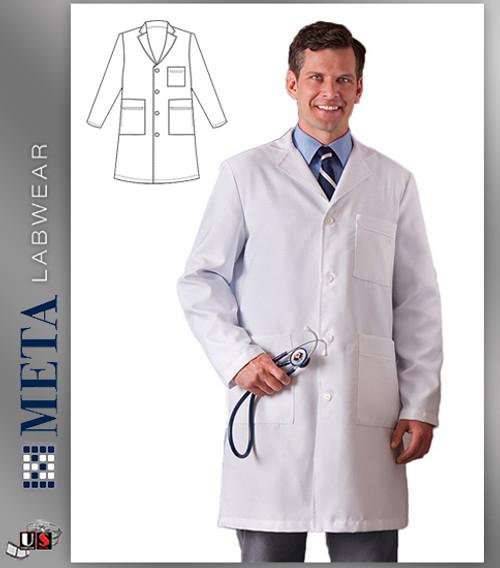 """862 Meta Men's Xstatic Labcoat 38"""" Length"""