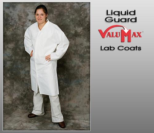 ValuMax Liquid Guard Breathable No Pockets Open Cuffs Lab Coats