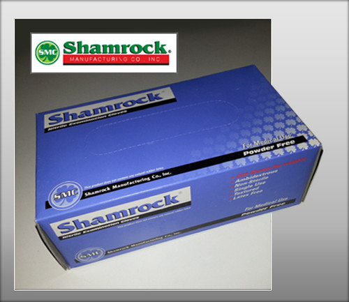 Shamrock Nitrile Examination Gloves - Powder Free (200 Gloves/ Box)