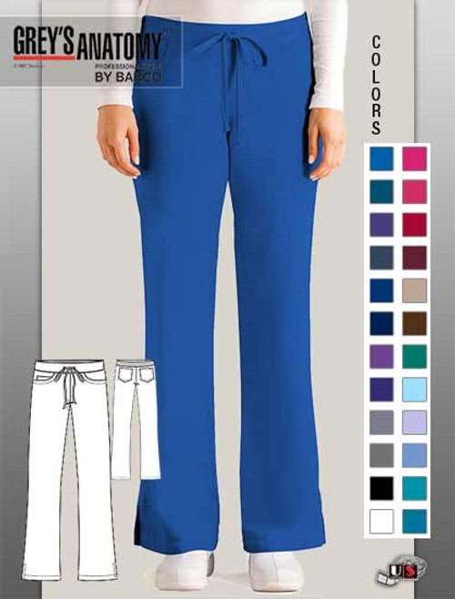 Grey's Anatomy Women's Jr. Fit 5-Pocket Drawstring Scrub Pant